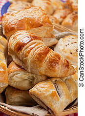 Croissant and other puff pastry - Croissants, sesame buns ...