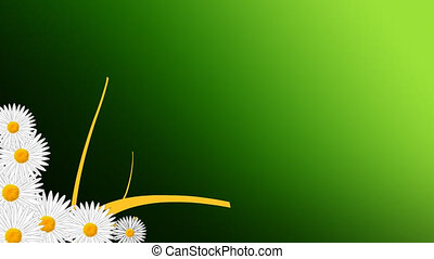 croissant, animation, fleurs