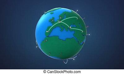 croissant, début, réseau, europe