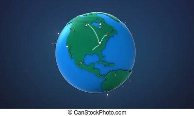 croissant, début, réseau global, usa