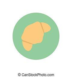 croissant  flat color icon