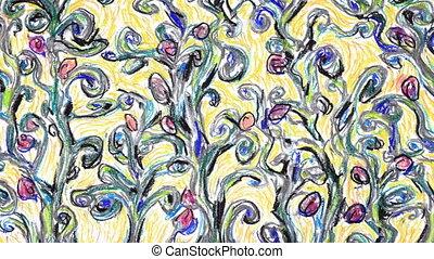croissant, fleurs