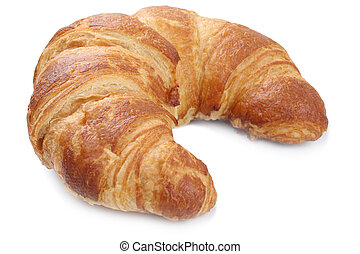 Croissant for breakfast isolated