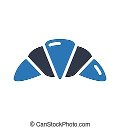 croissant glyph color vector icon