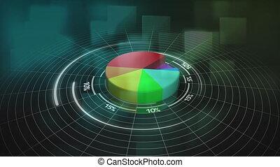 croissant, graphique circulaire