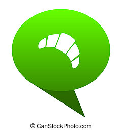 croissant green bubble icon