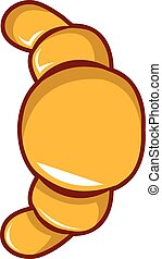 Croissant icon, cartoon style