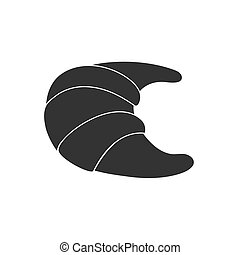 Croissant. Icon in flat style. Isolated on white background.