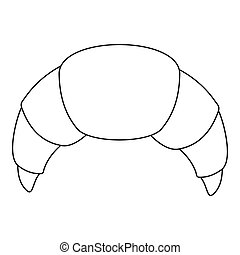 Croissant icon, outline style.