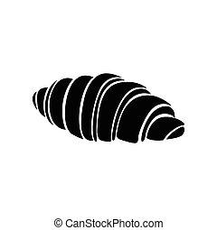 Croissant icon, simple style