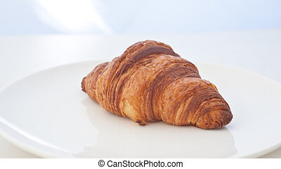 croissant in white background
