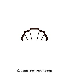 croissant logo vector icon symbol element