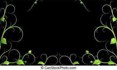 croissant, modèle, plante, vert, h