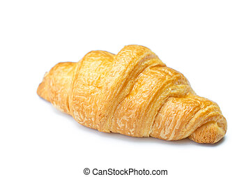 Croissant on isolated white background