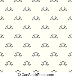 Croissant pattern vector seamless
