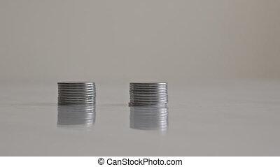 croissant, pièces, piles