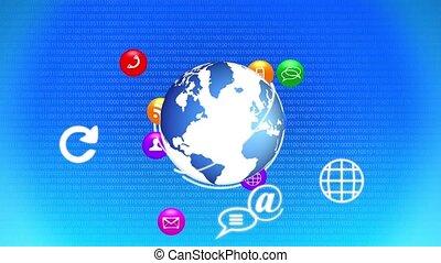 croissant, réseau, social