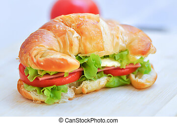 croissant sandwich or cheese sandwich