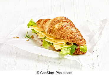 croissant sandwich with cheese