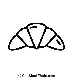 croissant thin line vector icon