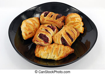croissant with cherry