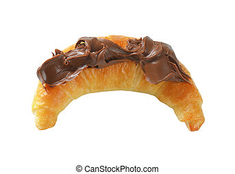 croissant with chocolate spread