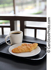 Croissant with coffee
