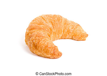 Croissant with white background