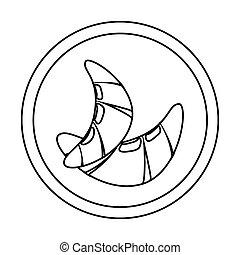 croissants, 框架, 圆, 侧面影象, bread