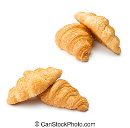 Croissants on isolated white background
