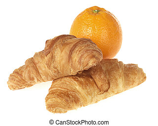 Croissants with an Orange