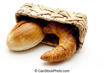Croissants with bread roll
