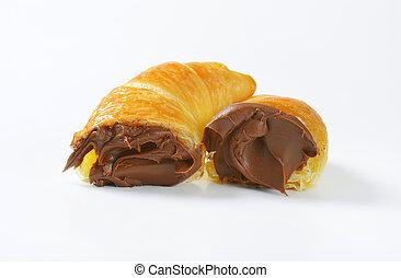 croissants with chocolate cream