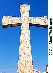 croix, bleu, ciel
