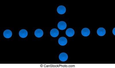croix bleue, point