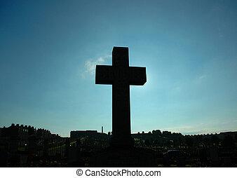 croix, blocage, les, soleil