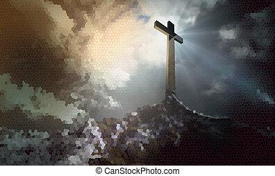 croix, colline
