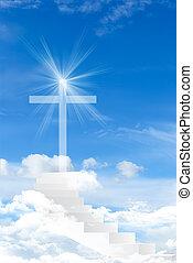 croix, contre, les, ciel