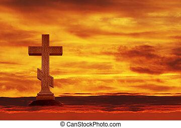 croix, dans, les, ciel