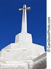 croix, de, sacrifice, à, tyne, lit camp, cimetière, dans, ypres