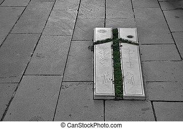 croix, grapvine, saint, nino, croix