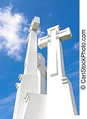 croix, lituanie, vilnius, trois