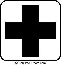 croix, pictogramme