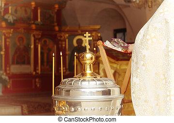croix, service, église