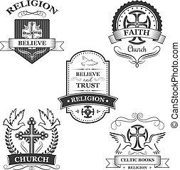 croix, signe, conception, église, vacances, paques