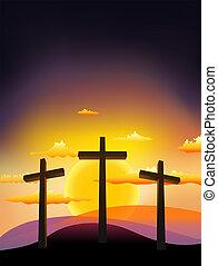 croix, trois