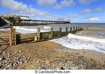 Cromer Pier in North Norfolk England UK