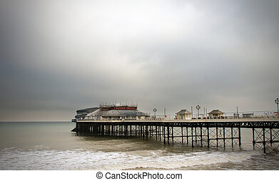 cromer pier on a muggy cold day