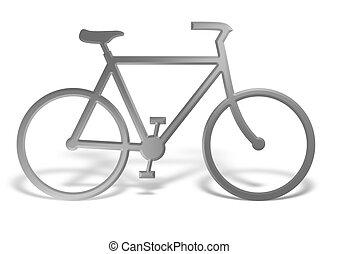 cromo, bicicleta
