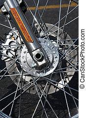 cromo, bicicletta, pneumatico